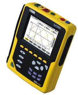 Chauvin Arnoux nabízí Třífázový analyzátor kvality energie C.A 8332, C.A 8334