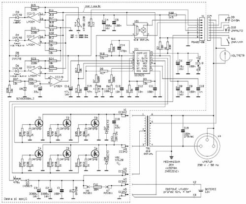 Obr.1 - Schéma zapojení střídače
