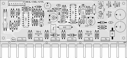 Obr. 2 - Osazení desky plošných spojů střídače