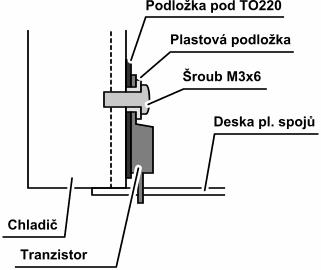 Obr.5 - Montáž tranzistorů