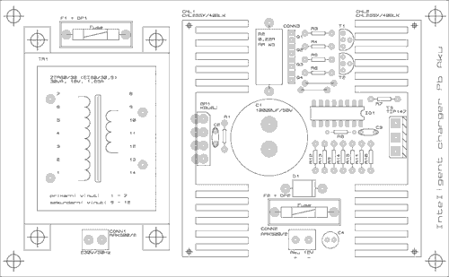 Osazení plošného spoje Inteligentní nabíječky olověných akumulátorů - Kliknutím zvětšíte
