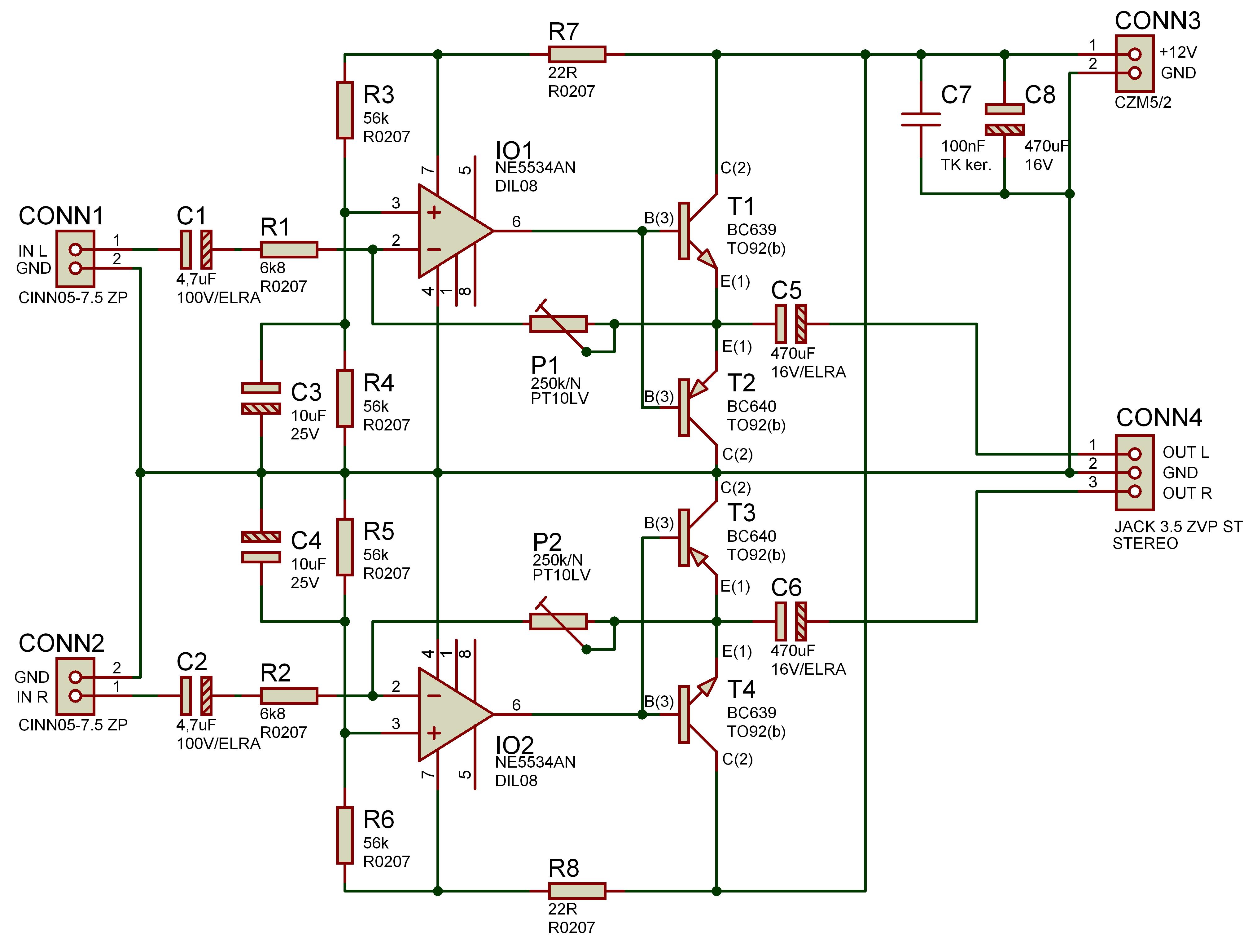 Усилитель для наушников схема 9v