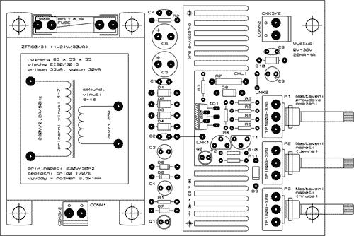 Osazení DPS zdroje s obvodem L200CV