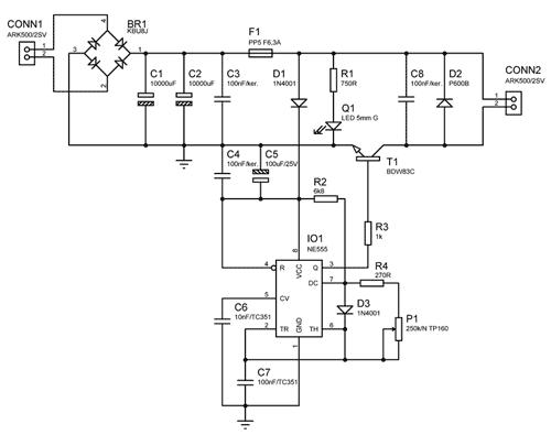 Obr. 1 - Schéma regulátoru otáček