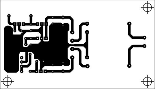 Plošný spoj napájecí části - Kliknutím na obrázek získáte náhled ve vyšší kvalitě