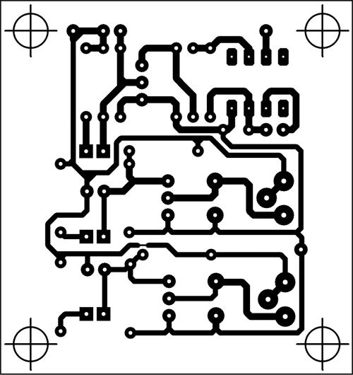 Plošný spoj řídící části - Kliknutím na obrázek získáte náhled ve vyšší kvalitě