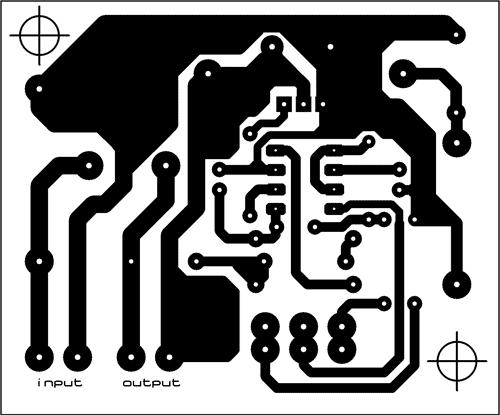 Obrazec plošného spoje regulátoru