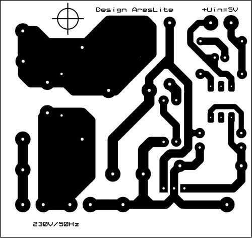 Obr. 3, 4 - Návrh desky plošných spojů (TOP, BOTTOM)