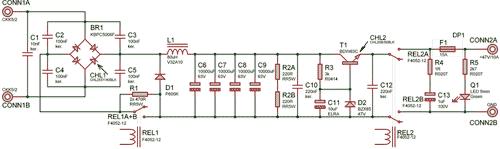 Schéma vstupní napájecí časti zdroje
