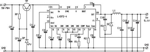Zvýšení vstupního napětí obvodu řady L497x