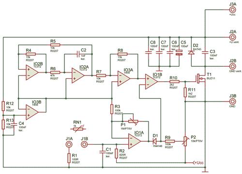 Schéma řídící jednotky ventilátoru