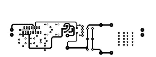 Spínaný zdroj s obvodem řady L4970 DPS (TOP COPPER)