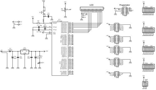 Schéma zapojení 40pinového StarterKitu