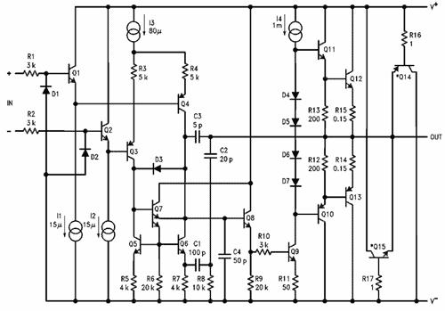 Obr. 1 - Vnitřní zapojení obvodu LM12CLK
